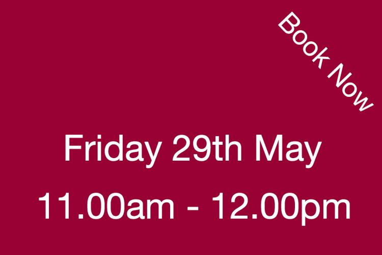 Book Your Visit to The Nursery Friday 29th May 11.00am - 12.00pm