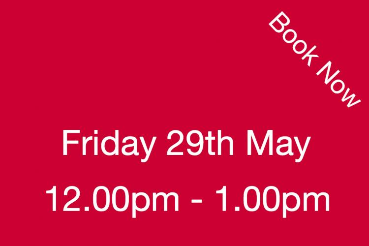 Book Your Visit to The Nursery Friday 29th May 12.00pm - 1.00pm