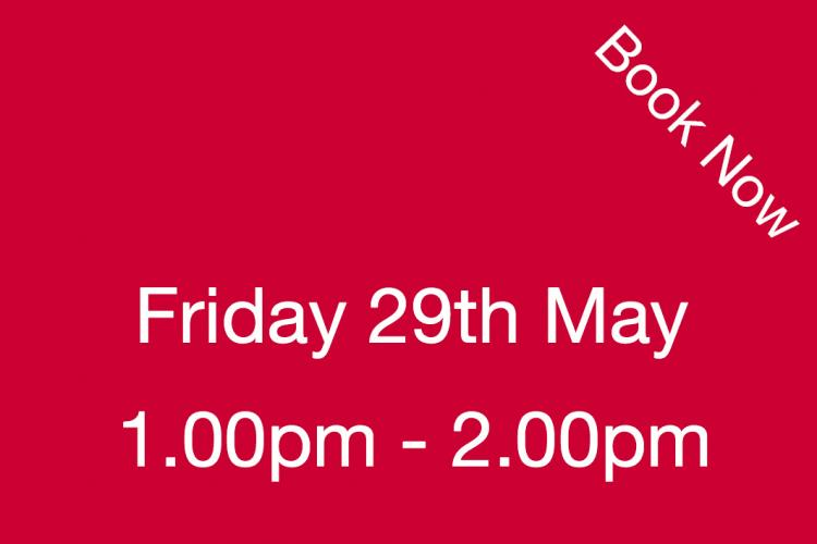 Book Your Visit to The Nursery Friday 29th May 1.00pm - 2.00pm